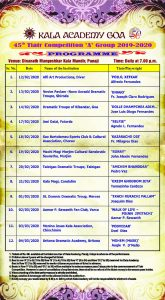 Programme of 45th Tiatr 'A' Group Competition