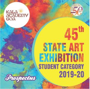 cover Prospectus of 45th State Art Exhibition 2019-20 (Students Category)