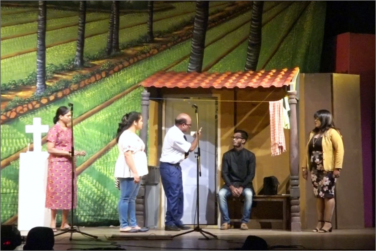 1st prize winning Drama Chowkidar Presented by Machi Mogi Morjim Cultural Sanskrutic Saunstha ,Morjim in the 46th Tiatr A Group Competition 2020-21