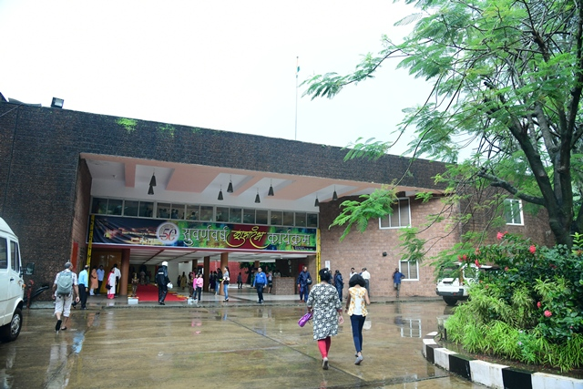 Exterior entrance facade of Kala Academy Goa