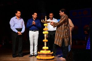 Shri. Pravind Barad, Director lighting the lamp