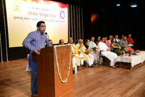 Chairman Shri. Govind Gaude addressing the audience