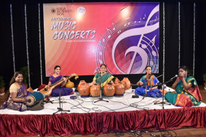 Stree Taal Tarang Group of Pancha Kanya's performing Carnatic Instumental Concert