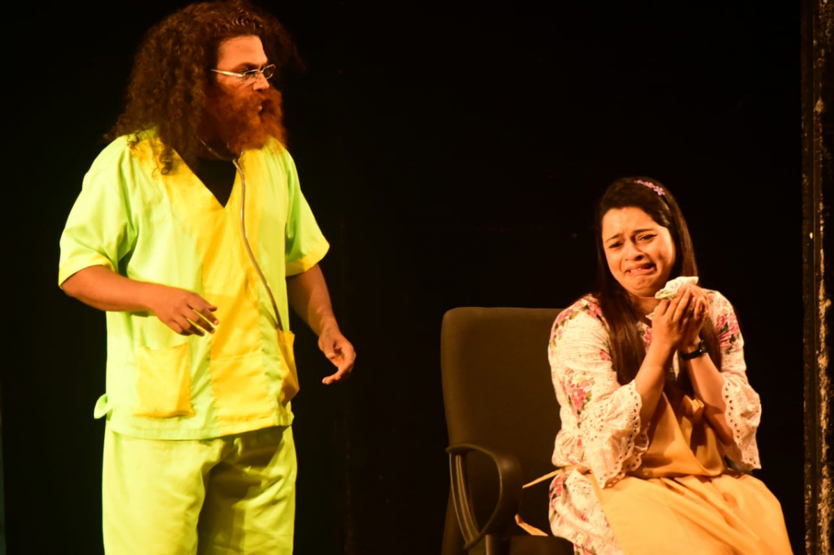 1st prize winning drama' Kasale Ani Ghosale' staged by Atharva, Ved- Altinho, Panaji in Konkani Drama Competition