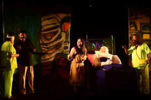 Photo of first winning drama' Kasale Ani Ghosale' by Atharva Ved, Altinho-Panaji  in Konkani Drama Competition
