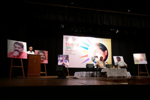 Shri. Digambar Kamat addressing the audience